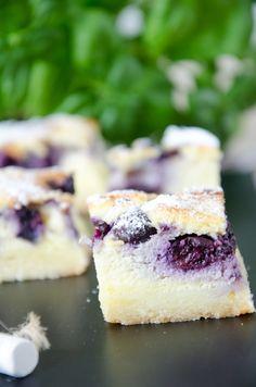 Cheesecake – Schnitten mit Heidelbeeren   Baking Barbarine