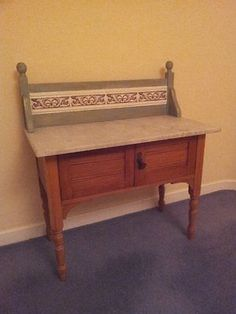 Marble topped wash stand  - extra storage for a bathroom
