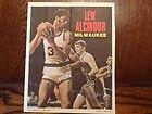 For Sale - 1968 MILWAUKEE BUCKS LEW ALCINDOR TOPPS NBA BASKETBALL POSTER