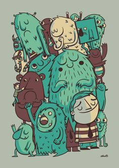 An Odd Crowd Art Print  by Greg Abbott