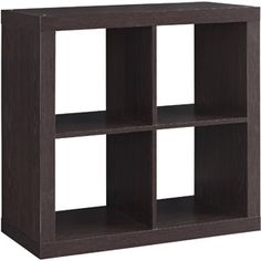 Better Homes and Gardens Square 4-Cube Organizer, Multiple Finishes--as side table for sofa
