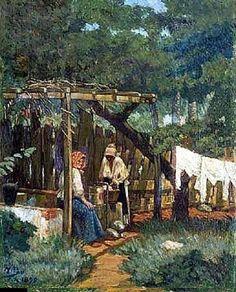 Las lavanderas (1896)   Artist: Miguel Pou y Becerra