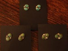 Turquoise Post Earrings, Jeanette Dale