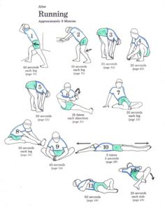 Stretches for before and after a run