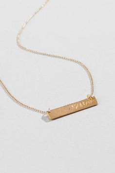 Eloise Heart You Bar Pendant Necklace This Is So Pretty And Simple Necklaces