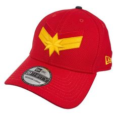 5e244186a7a Captain Marvel Scarlet Navy New Era 3930 Flex Fit Hat Flex Fit Hats