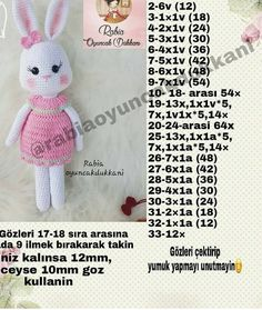 Best 11 Crochet Amigurumi Bunny Pattern ( English only Crochet Bunny Pattern, Crochet Rabbit, Crochet Patterns Amigurumi, Baby Knitting Patterns, Amigurumi Doll, Crochet Dolls, Doll Patterns, Crochet Baby Booties, Stuffed Toys Patterns