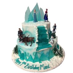 1291) Frozen Birthday Cake 2 Layer | ABC Cake Shop
