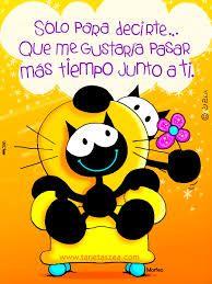 Resultado de imagen para frases de amor con dibujitos Love Images, Love Pictures, Mafalda Quotes, Romantic Words, Love Words, Cute Love, Special Day, Mickey Mouse, Friendship
