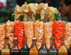 Chicharrones and mexican botanas (snacks)