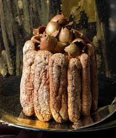 Chocolate Charlotte with Rum Candy Crash, Greek Dishes, Eat Pray Love, Recipe Boards, Pavlova, Homemade Cakes, Greek Recipes, Sweet Desserts, Chocolate Desserts