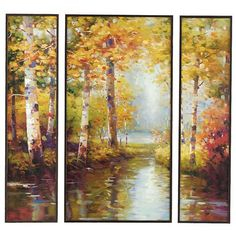 This art is beautiful. Adds a modern rustic touch to any home. AUTUMN'S PROMISE TRIPTYCH - SET OF 3 $199.00 | Framed Art| Rustic Art