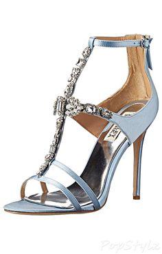 Badgley Mischka Giovana Satin Dress Sandal