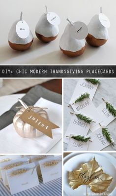 Cool Modern Thanksgiving Placecards