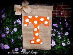 UT+Go+Vols+Tennessee+Burlap+Garden+Flag+Volunteers+by+thecozyloft,+$20.00