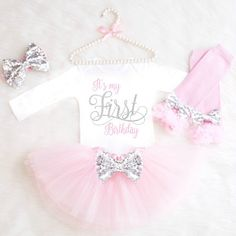 1st Birthday Outfit Girl It's My First by KennedyClairesCloset