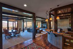 Creek Hollow Castle - rustic - family room - charlotte - Glennwood Custom Builders (NC)