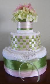 Towel cake- bridal shower