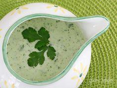 Healthier version of a creamy cilantro tomatillo dressing from Skinnytaste.com