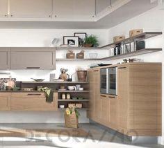 Cucina componibile in legno massello con maniglie Collezione ...