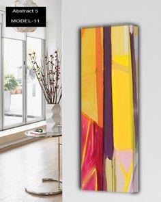 Abstract-5 design radiatoren Verticale design verwarming met multicolor 12 verschillende abstracte oppervlakte. 897 tot 3370 watt