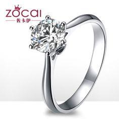 Zakaly century classic 18K white gold diamond wedding ring diamond ring finger