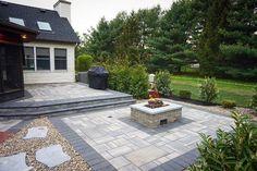 Ultimate Deck And Patio Area Retreat For Easy Living – Outdoor Patio Decor Patio House Ideas, Backyard Patio Designs, Backyard Landscaping, Patio Ideas, Backyard Decorations, Courtyard Ideas, Backyard Ideas, Brick Paver Patio, Pergola Patio