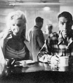 Marilyn Monroe and Joe Dimaggio before Mr. Coffee