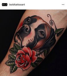 Boxer Dog Tattoo, Dog Tattoos, Traditional Tattoo Boxer, Dog Skull, Boxer Dogs, Future Tattoos, Ink, Tattoo Ideas, Rabbit