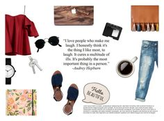 """'When you can't make them see the light, make them feel the heat'. Ronald Reagan"" by patienceisavirtue ❤ liked on Polyvore featuring Sans Souci, Anna October, Tory Burch, Ray-Ban, NARS Cosmetics, Rifle Paper Co and Rebecca Minkoff"