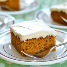 carrot sheet cake with cream cheese frosting from the kitchn. am i the only one who has a million carrot cake recipes but never remembers how to make them?