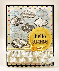 """Created By: Jennifer Roach - using the BRAND NEW My Little Shoebox release at Unity - You Always BRAND NEW from MY LITTLE SHOEBOX. {Written in the Clouds}    BRAND NEW from MY LITTLE SHOEBOX.  Inspired by the My Little Shoebox """"Vintage Shop"""" Release. CLICK HERE to purchase this Stamp: http://www.unitystampco.com/product/1752-written-in-the-clouds.aspx"""