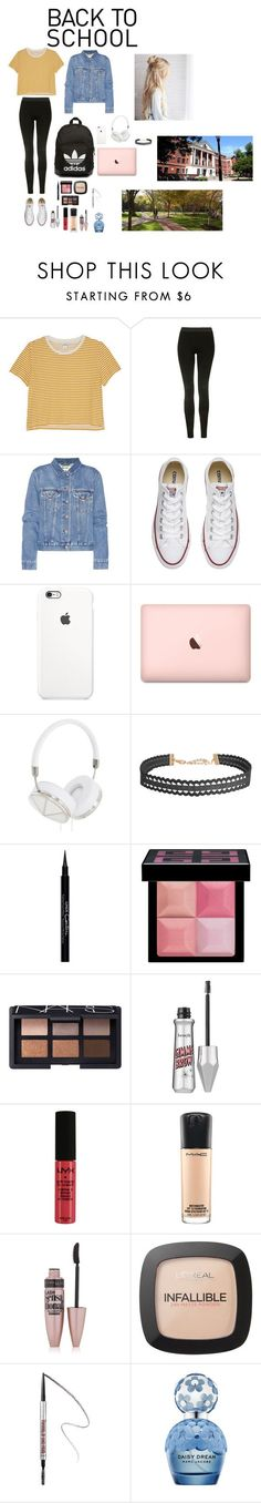 """Back to School:College"" by peytonolivia27 on Polyvore featuring Monki, Topshop, Acne Studios, Converse, adidas Originals, Frends, Humble Chic, Givenchy, NARS Cosmetics and Benefit"