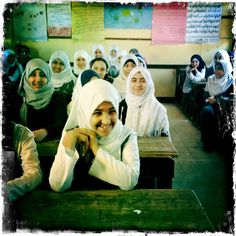 Girl Rising is on location in Egypt and Peru right now. Here's an 8th grade Arabic class in a village outside of Fayoum, Egypt. These girls all have big dreams. Many want to be doctors, lawyers and teachers so that they can give back to their community. We met these girls while filming a piece on girls' literacy with our partner Intel.     — at Fayoum, Egypt.
