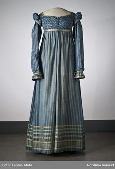 Dress (circa 1815) for Elizabeth, heroine of How to Marry a Marquis.  I've always thought Elizabeth would look good in blue--JQ
