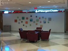 LED Stock Ticker at Temple University in PA