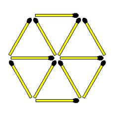 Matchstick Puzzles: Move 2 to create 6 triangles Number Puzzles, Maths Puzzles, Higher Order Thinking, End Of School Year, Fun Math, How To Remove, Triangles, Medium, Montessori