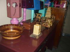 fruteiras,porta canetas,porta joias,carrinhos em madeira.