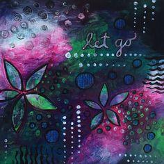 SOLD Wall Art Let Go Acrylics on Paper Copyright 2015 Sharon Landon