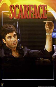 Scarface Color Portrait Al Pacino Movie Poster 22x34