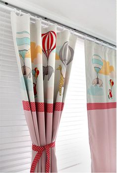 [ D E S C R I P T I O N ]  Pink Adballoon Kids Blackout Curtains, Nursery Blackout Curtains, Kids Curtains, Children Curtains, Kidsroom Curtains, Kids Window Curtains  For sale is a pair of beautiful Adballoon Blackout Curtains. Almost 70-80% blocks light, absorbs noise, insulates against heat and cold. The Size of the panel is 51 W x 90 L ONLY.  This listing includes two curtain panels. Edges and hems are professionally finished with top-stitching all around. (Bottom hem: 4 inches, Side…