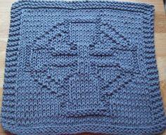 DigKnitty Designs: Celtic Cross Knit Dishcloth Pattern