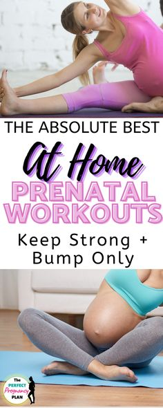 Looking for a great prenatal workout you can do at home? Check out these awesome pregnancy workouts split up by each trimester! Find prenatal exercise routines for the first trimester, second trimester, and third trimester for a healthy pregnancy all hand picked by a fitness trainer! With a plan like this, you can learn how to exercise safely in the 1st, 2nd, and 3rd trimesters right at home for a bump only fit pregnancy! #prenatalworkout #prenatalfitness #pregnancyworkout #healthypregnancy All About Pregnancy, Pregnancy Labor, Pregnancy Workout, Prenatal Exercise, Exercise Routines, How To Increase Breastmilk, Postpartum Fashion, Fit Moms, Workout Splits