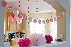 diy birthday decor.. My dream would be this decor, me sleeping in while my family cooks me breakfast decorates and makes me handmade cards, awakened with breakfast in bed and hand made cards just like in the movies. I guess I can dream.