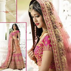 Bollywood Indian Ethnic Designer Wedding Lehenga Pakistani Choli Dupatta Dress #Handmade #LehengaCholiDupatta #WeddingPartyWear