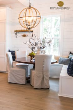 Breakfast nooks are great interior additions to any area in your new home. We especially love the added against the wall for extra seating space! Breakfast Nooks, New Home Construction, Interior Decorating, Interior Design, Home Trends, New Home Designs, Extra Seating, New Builds, Interior Inspiration