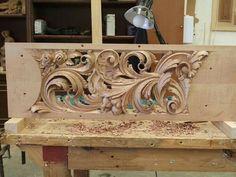Wood Carving Designs, Wood Carving Art, Sculpture Ornementale, Chip Carving, Got Wood, Metal Engraving, Art Carved, Wood Detail, Wood Slats