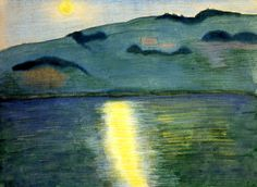 Moonlit Landscape  Marianne von Werefkin - 1907