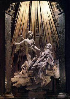 """Gian Lorenzo Bernini, """"L'Estasi di santa Teresa d'Avila"""", 1647 - 1652, marmo, 350 cm, la Capella Cornaro, Chiesa di Santa Maria della Vittoria, Roma"""