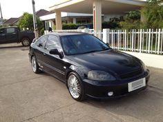 Honda Civic Coupe ปี 2000 สีดำ ติดแก๊ส LPG   ซื้อง่าย ขายฟรี ที่ dealfish.co.th